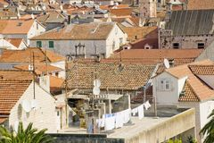 Roof of Trogir sity in Croatia Royalty Free Stock Photo