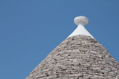 Roof of a trullo, a traditional dry stone hut Stock Image