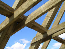 Roof truss Royalty Free Stock Image