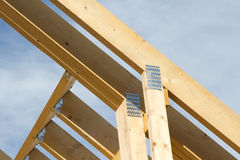 Roof truss joiners, Royalty Free Stock Photography