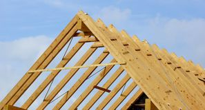 Roof truss or roof structure Royalty Free Stock Photography