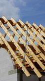 Roof truss or roof structure Stock Images