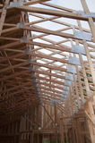 Roof Trusses Half Sheeted Stock Images