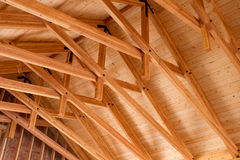 Roof Trusses Royalty Free Stock Photos