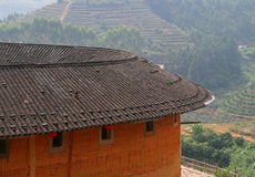 Roof of Tulou, traditional dwelling ethnic Hakka Royalty Free Stock Image