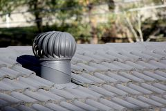 Roof Turbine Air Vent Royalty Free Stock Photo