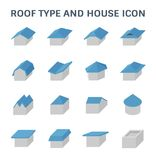 Roof type icon. Roof type and house vector icon set design Stock Photo