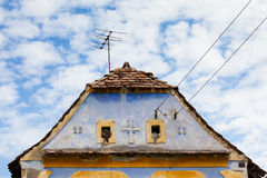 Roof of typical saxon house  in transsylvania Romania Stock Photos
