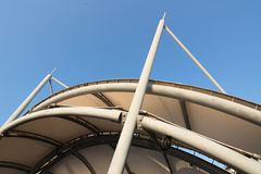 Roof under blue sky Stock Photography