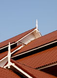 Roof under blue sky Stock Image