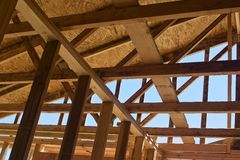 Roof under Construction Royalty Free Stock Image