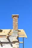 Roof under construction. Carpentry work Royalty Free Stock Images