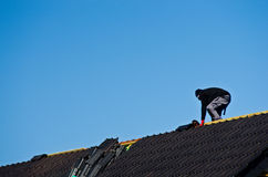 Roof under construction Royalty Free Stock Images
