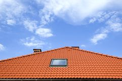 Roof under the sky Royalty Free Stock Photography