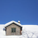 Roof under the snow Royalty Free Stock Image