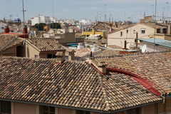 Roof of Valencia, Spain Royalty Free Stock Photo