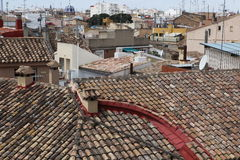 Roof of Valencia, Spain Stock Images