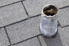 Roof Vent Stack that Needs Repair Royalty Free Stock Image