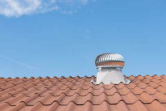 Roof Ventilation, cooling pipes on Stock Photos