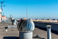 Roof ventilation turbine Stock Photos