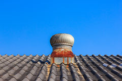 Roof Ventilation with Turbine Vents Stock Images