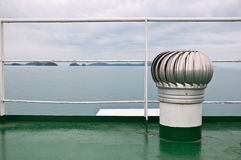 Roof ventilator. On ferry ship roof Stock Images