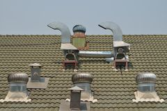 Roof ventilator machine. Stock Photo