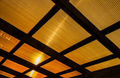 The roof of the veranda of polycarbonate Stock Images