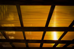 The roof of the veranda of polycarbonate Royalty Free Stock Image
