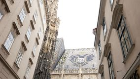 Roof of the Vienna Cathedral. Droof of the Vienna Cathedral stock video footage