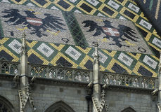 Roof of Vienna's cathedral Stock Photography