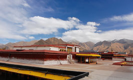 Roof view of Jokhang temple Stock Image