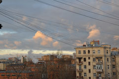 Roof. View in Moscow Russia Royalty Free Stock Image