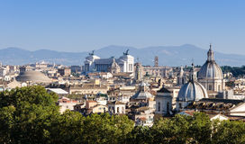 Roof view over Rome from the hill Royalty Free Stock Photo