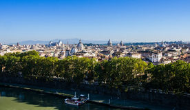Roof view over Rome from the hill Stock Images
