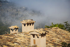 Roof in the village of Deia Royalty Free Stock Images
