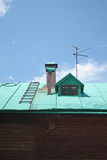 The roof of a village house green Royalty Free Stock Photos