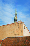 Roof. Wall. Belfry. Sky Royalty Free Stock Photos