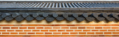 Roof on wall Royalty Free Stock Image