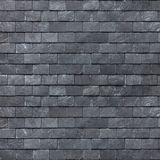 Roof wall of the Silesian black shale. Slate roofing tiles. Background image, texture Stock Photo