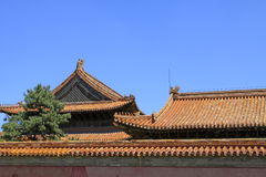 The roof and walls in the Eastern Royal Tombs of the Qing Dynast Stock Photo