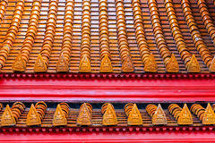Roof at wat Benchamabophit in Thailand Royalty Free Stock Image