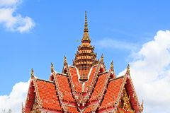 Roof of Wat Hat Yai Nai, Hatyai, Thailand Royalty Free Stock Images