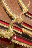 Roof of Wat Mani Phraison, Mae Sot, Tak province, Thailand. Stock Photography
