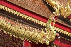 Roof of Wat Mani Phraison, Mae Sot, Tak province, Thailand. Stock Photo