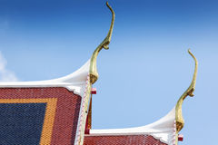 Roof of Wat Pho Temple in Bangkok Stock Photo