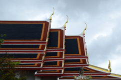 Roof of Wat Phra Kaew Grand Palace Temple, Bangkok Royalty Free Stock Image