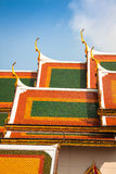 Roof of Wat Phra Kaew, Temple of the Emerald Buddha, Bangkok, Th Royalty Free Stock Photo
