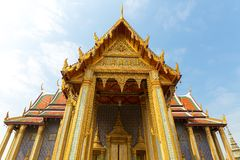 Roof of Wat Po Temple Royalty Free Stock Image