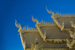 Roof Wat Rong Khun Chiangrai Royalty Free Stock Photo